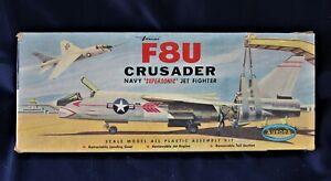 Vintage Aurora F8U Crusader Supersonic Jet Fighter Navy Airplane Model Kit