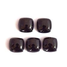 10 PIECES LOT BLACK ONYX 10X10 MM CUSHION LOOSE GEMSTONE CALIBRATED CABOCHON