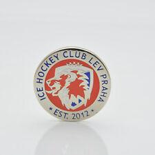 "KHL Lev Prague Czech Republic ""Round"" pin, badge, lapel, hockey"