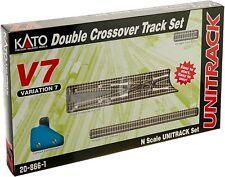 Kato Usa Escala N ~ V7 Conjunto De Pista doble cruce ~ 20-866-1