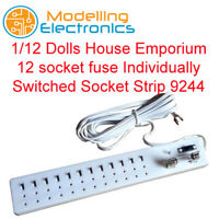 1/12 Dolls House Emporium 12 socket fuse Individually Switched Socket Strip 9244