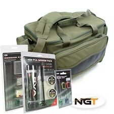 NGT pesca carpa BORSA CARRYALL-PVA sessione Pack, sessione Set & Free Needle Set