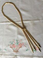 Newbridge Silver eShe Gold Tone Two Row Snake Chain Necklace Adjustable Signed