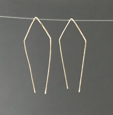 Geometric Pull Through Threader Earrings in Gold Fill, Rose Gold Fill or Silver