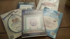 Cross Stich kits and Needlepoint quilts design lot of 5 brand new&seal Beginner