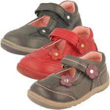 Chaussures gris étroits en cuir pour fille de 2 à 16 ans