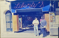 Vintage Photo Slide Libertys Store Front People Posed Nudie Shop
