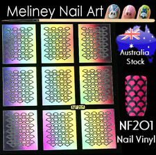 NF201 Mermaid Fish Scale Nail Vinyl Sticker decoration Stencil Vinyls Scallop
