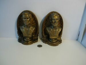 Vintage Bradley and Hubbard Lincoln Book Ends Cast Iron