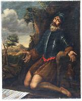 Saint en oraison, XVIIème siècle/ Saint, oil on canvas, XVII century