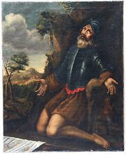 Saint en oraison, XVIIème siècle/ Saint, oil on canvas, XVII century