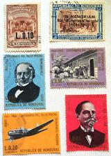 Vintage Honduras Stamp/Stamps Collection Lot - 6 Stamps