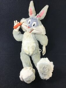 "VINTAGE 1960'S MATTEL PULL STRING TALKING 20"" BUGS BUNNY DOLL LOONEY TUNES WORKS"