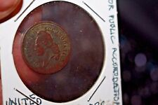 Civil War 1863 Public Accommodation Copper Token