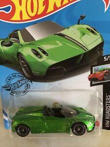 2020 Hot Wheels Super Treasure Hunt '17 PAGANI  HUAYRA ROADSTER green #241/250