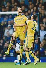 Matic & Ivanovic Doble Firmado 8x12 Chelsea Foto aftal/uacc Rd