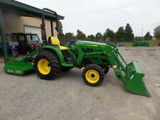 John Deere 3032E 4Wd Dsl Hydro Loader And Bushog 2018 W/ 121 Hrs!