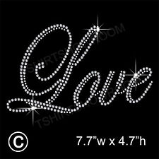 LOVE STRASS / Diamante transfer HOTFIX FERRO DA STIRO Motif Appliqué con regalo gratuito