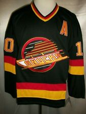 "Pavel Bure Vancouver Canucks Black ""1989-1992 Throwback"" CCM NHL Jersey Medium"