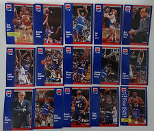 1991-92 Fleer Sacramento Kings Team Set Of 15 Basketball Cards