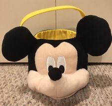 Mickey Mouse Head Halloween Trick Or Treat Pumpkin Bucket