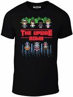 Mens 8-Bit Upside Down T-Shirt - Netflix TV Horror Mike Dustin