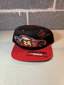 Vintage 90s Jeff Gordon Jurassic Park Promotion Snapback Hat Embroidered RARE