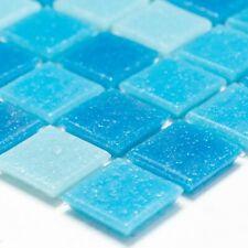 Glasmosaik Fliesen Blau Mix | Dusche Wandfliese Mosaikfliese