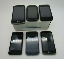 Lot of 6 cell phones - broken - for parts or repair