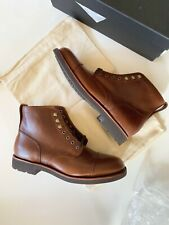 New JCREW Mens Size 8.5 Kenton Cap-Toe Boots in Burnished Tobacco $248