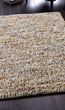 ORIGIN SAVINA ROCKS SHAGGY CONTEMPORARY WOOL JELLYBEAN RUGI Gold 60X120cm NEW
