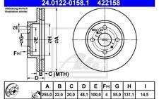 ATE Juego de 2 discos freno 255mm ventilado para TOYOTA COROLLA 24.0122-0158.1