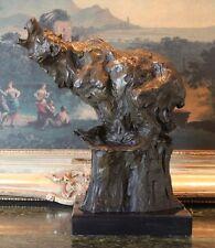 Roaring Kodiak Grizzly Russian Bear  Bronze Marble Statue Sculpture Collectible