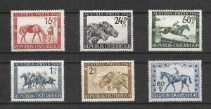 LA34-Austria 1946-47  issue  semi-postal  stamps Horses