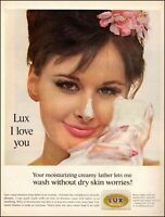 1962 vintage AD for LUX Beauty Soap , Very Pretty Model with Suds   072620