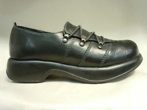 Dansko Janika Black Leather Comfort Oxford Shoes Womens Size 39 or 8 - 8.5US
