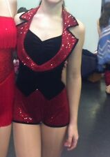 Small adult Art Stone black and red jazz/tap dance costume