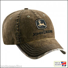 NEW UNSTRUCTURED JOHN DEERE WASHED OLIVE SUEDE REALTREE CAMOUFLAGE CAP CAMO HAT
