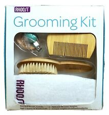 All Natural & Organic Baby Grooming Kit-Brush/Nail Clipper.Rhoost New Other 4Pc