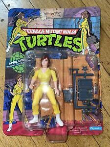 1988 TEENAGE MUTANT NINJA TURTLES April O'Neil Blue Stripes - Playmates