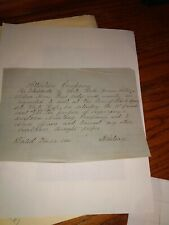 Letter to residents of Whitehall to meet and form a military company