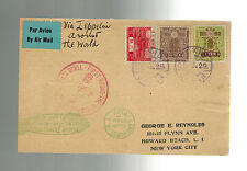 1929 Tokyo Japan Graf Zeppelin World Flight Cover To USA LZ 127 Roeesler postcar