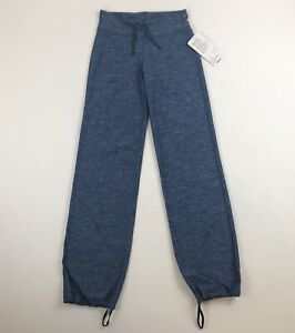 NWT Lululemon Blue Space Dye Relaxed Fit Pant Sz 4 Yoga Fitness
