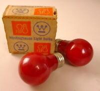 Vintage Westinghouse 15W Watt Red Light Bulbs Christmas Holiday