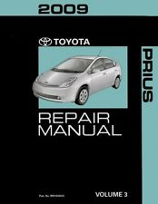 2009 Toyota Prius Shop Service Repair Manual Volume 3 Only