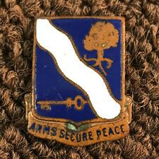 Original WWII 143rd Infantry Regiment DI DUI Unit Crest P/B MFR: NS Meyer