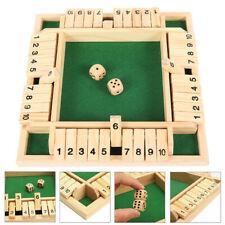 SHUT THE BOX Würfelspiel Klappenspiel Brettspiel Spiel aus Holz  Klappbrett de
