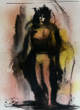 TWILIGHT 3 original art drawing nude ink on paper 21x29 cm FREDERIC BELAUBRE
