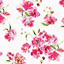 Roses dans Le Soleil Jardin Coton Popeline - sur Blanc Fabrication de Robes