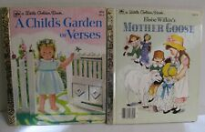 Two Little Golden Books:  A CHILD'S GARDEN OF VERSES, AND MOTHER GOOSE